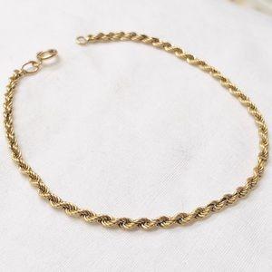 "Jewelry - NEW! 14k yellow gold rope 7.5"" bracelet"